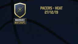 Pacers - Heat 27/12/19