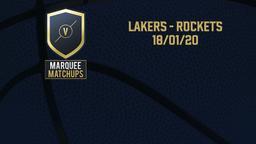 Lakers - Rockets 18/01/20