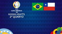 Brasile - Cile. 2° quarto