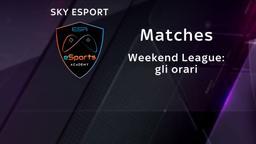Weekend League: gli orari