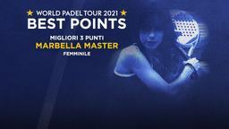 Migliori 3 punti Marbella Master Femminile