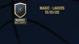 Magic - Lakers 15/01/20