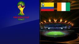 Colombia - Costa d'Avorio. Gruppo C. 2a giornata