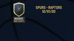 Spurs - Raptors 12/01/20