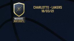 Charlotte - Lakers 18/03/21
