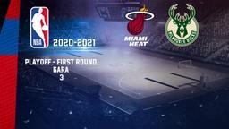 Miami - Milwaukee. Playoff - First Round. Gara 3