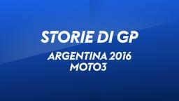 Argentina, Rio Hondo 2016. Moto3