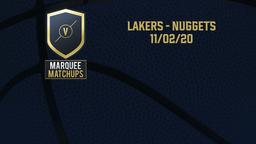 Lakers - Nuggets 11/02/20