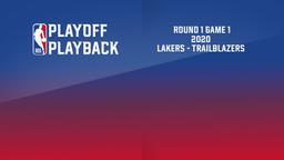 2020: Lakers - Trailblazers. Round 1 Game 1