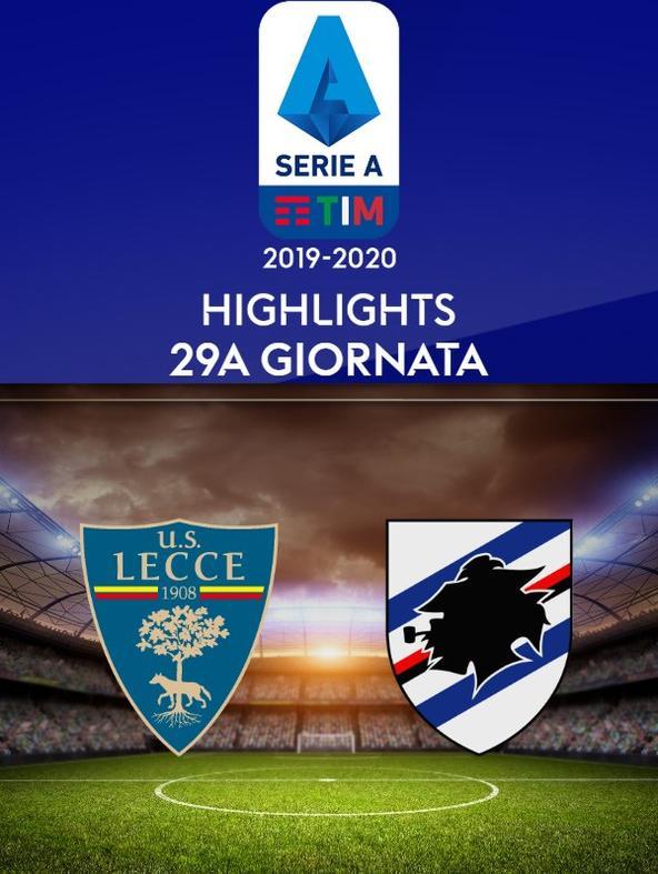 Lecce - Sampdoria. 29a g.