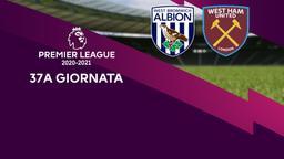 West Bromwich Albion - West Ham United. 37a g.