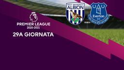 West Bromwich Albion - Everton. 29a g.