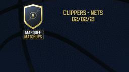 Clippers - Nets 02/02/21