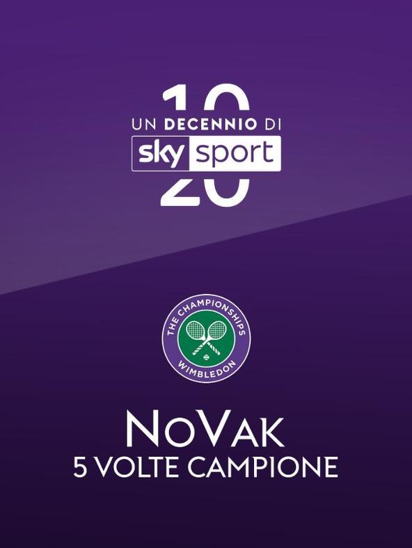 Novak - 5 volte campione