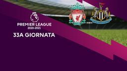 Liverpool - Newcastle. 33a g.