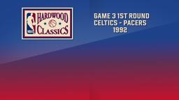 Celtics - Pacers 1992. Game 3. 1st Round