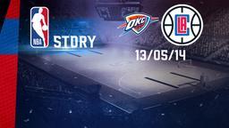 Oklahoma City - LA Clippers 13/05/14. Playoff Gara 5
