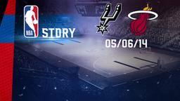 San Antonio - Miami 08/06/14. Playoff Finale Gara 2