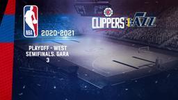 LA Clippers - Utah. Playoff - West Semifinals. Gara 3