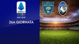 Lecce - Atalanta. 26a g,