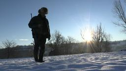 Caccia sulla neve