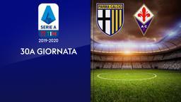 Parma - Fiorentina. 30a g.