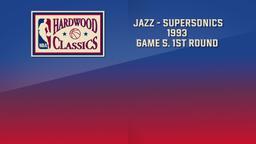 Jazz - SuperSonics 1993. Game 5. 1st Round