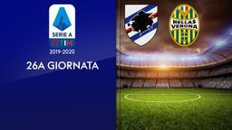 Sampdoria - Verona. 26a g.