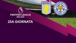 Aston Villa - Leicester. 25a g.