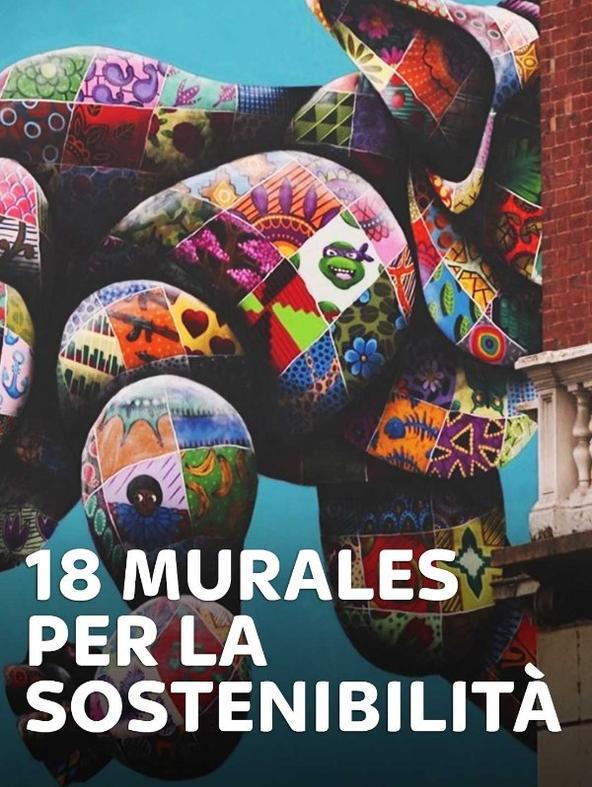 18 murales per la sostenibilità