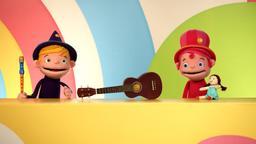 Che differenza c'è: chitarra / Sotto il fazzoletto: Leone / Teeny canticchia / Gioco di immaginazione: cetriolo