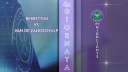 Berrettini - Van de Zandschulp. 4a g.