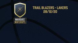 Trail Blazers - Lakers 28/12/20