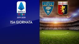 Lecce - Genoa. 15a g.