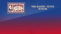 Trail Blazers - Celtics 15/03/92