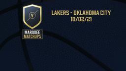 Lakers - Oklahoma City 10/02/21