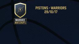 Pistons - Warriors 29/10/17