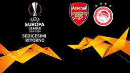 Arsenal - Olympiacos. Sedicesimi Ritorno