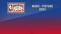 Magic - Pistons 2003. East 1st Round Game 1