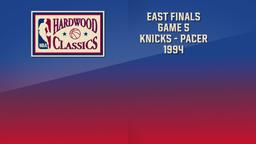 Knicks - Pacer 1994. East Finals. Game 5