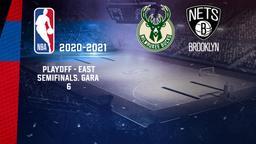 Milwaukee - Brooklyn. Playoff - East Semifinals. Gara 6
