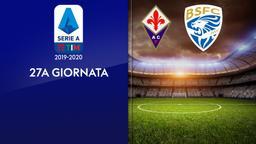 Fiorentina - Brescia. 27a g.