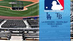 LA Dodgers - Tampa Bay. World Series Game 1