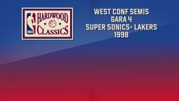 Super Sonics- Lakers 1998. West Conf Semis Gara 4