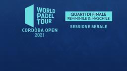 Cordòba Open: Quarti F/M Sessione serale
