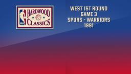 Spurs - Warriors 1991. West 1st Round Game 3