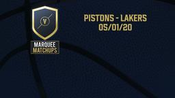 Pistons - Lakers 05/01/20