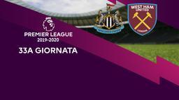 Newcastle - West Ham United. 33a g.