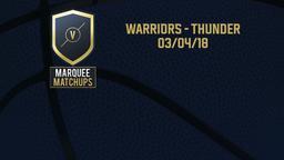 Warriors - Thunder 03/04/18