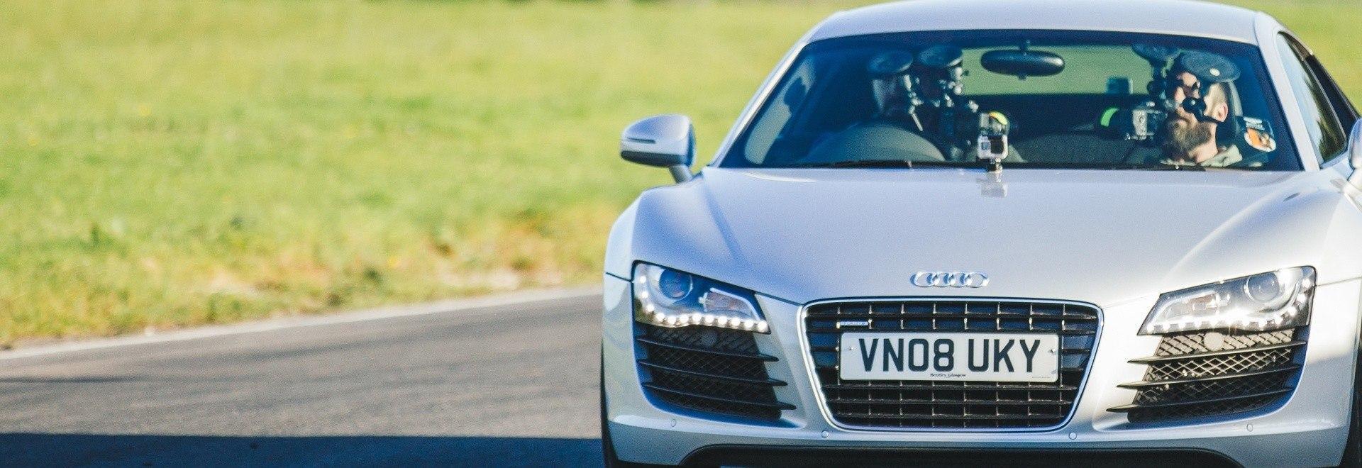 Audi R8: a tutta velocità